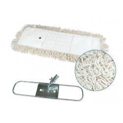 Mopa plana industrial de algodón 15x75 cms con bastidor metálico