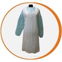 Delantal desechable blanco Polietileno. Pack 100 uds