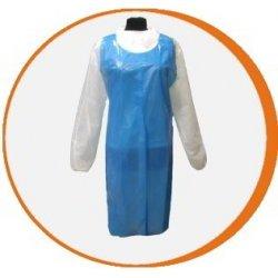 Delantal desechable azul Polietileno. Pack 100 uds