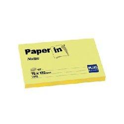 Notas amarillas adhesivas 75x125. Bloc 100 hojas