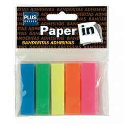 Banderitas adhesivas 5 colores