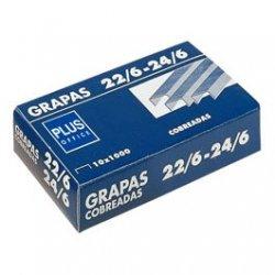 Grapas 22/6 24/6 cobreadas. Pack 1000 uds