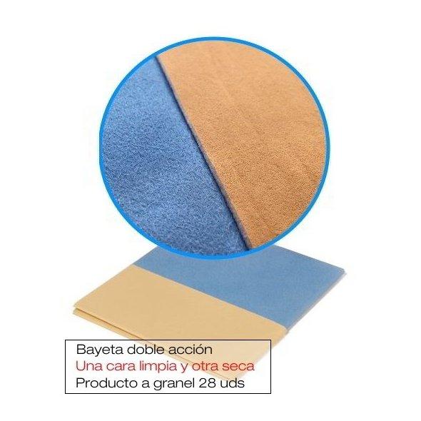 Bayeta cristales doble acción granel 28 uds