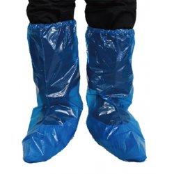 Cubrebotas desechable Azul en Polietileno. Pack 100 uds