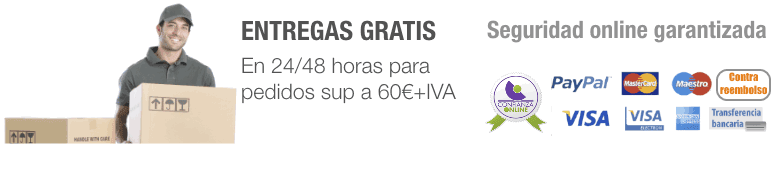Entrega gratis a partir de 60€