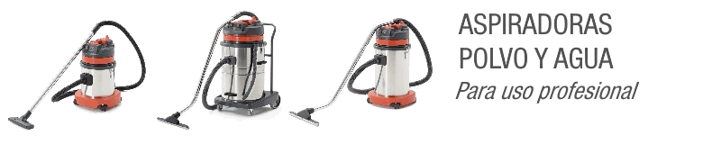Aspiradoras profesionales de polvo y agua