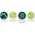 Papel higiénico doméstico extra suave 2 capas. 12 rollos/150 servicios