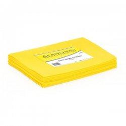 Bayeta amarilla multiusos 38x40 cms. 10 unidades