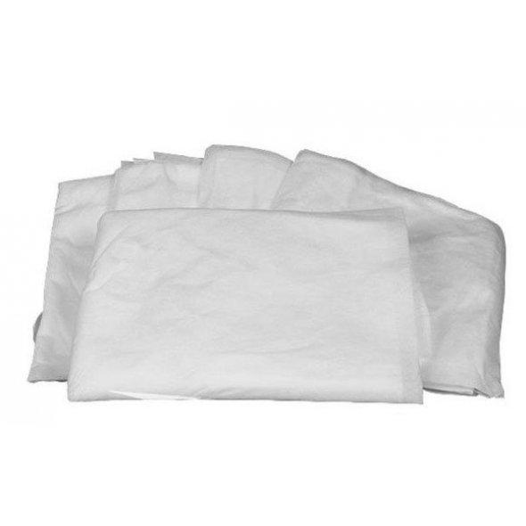 Sábanas desechables blancas no ajustables. Caja 100 uds 80x200cm