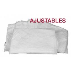Sábanas ajustables blancas. SMS tamaño 95x220cm