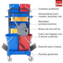 Carro de limpieza multifunción completo CLIMPRO