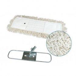 Mopa industrial algodón 15x100 cms con bastidor metálico y mango