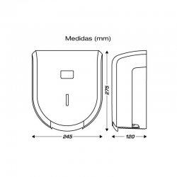 Dispensador de papel higiénico y pack de 18 rollos 2 capas gofrado con precorte