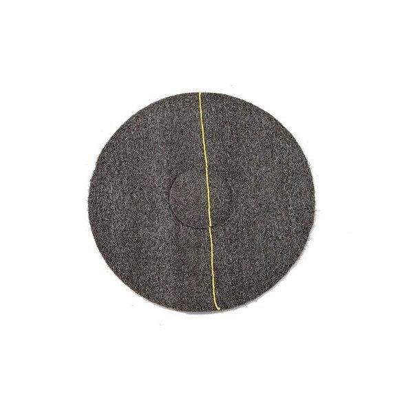 """Disco AKRON amarillo de abrillantado y cristalizado 17""""/43 cm"""