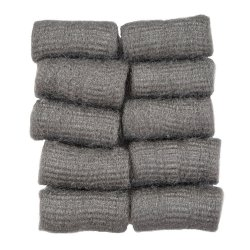 Rollo pequeño de lana de acero. Bolsa 10 uds