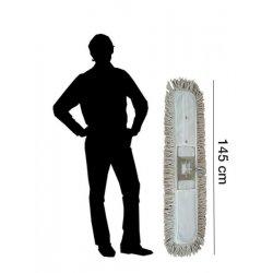 Mopa industrial  algodón 15x145 cm con bastidor y mango