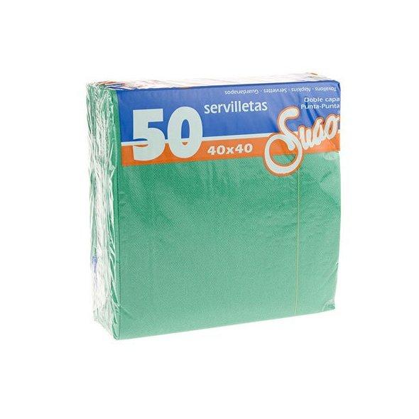 Servilletas 40x40 textura Extra. Pack 50 uds. Verde