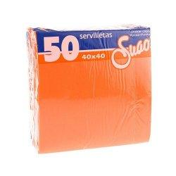 Servilletas 40x40 textura Micropunto. Pack 50 uds. Salmón