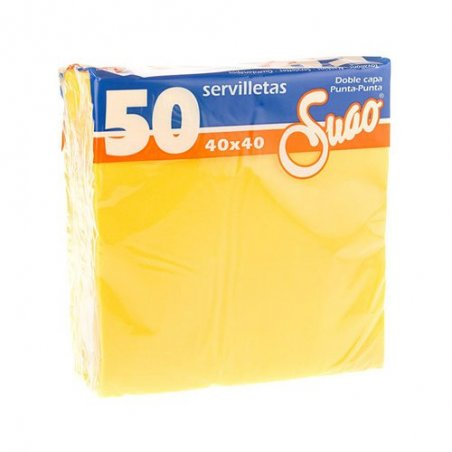 Servilletas 40x40 textura Extra. Pack 50 uds. Amarillo