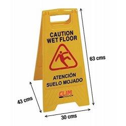 Señal advertencia de pavimento mojado. Pack 4 señales