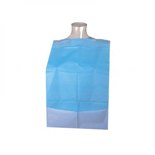 Babero desechable adultos con receptáculo. Caja 500 uds
