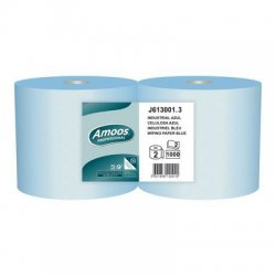 Pack 2 rollos de Celulosa industrial Azul 2 capas. 300 metros