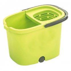 Cubo con ruedas y escurridor de 16 litros