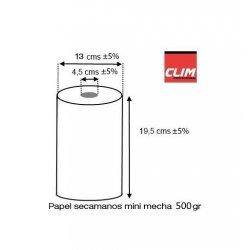Rollo de Celulosa secamanos Cheminé o mecha 2 capas. Pack 1 rollo