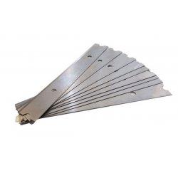 Pack 10 cuchillas para rascador suelos y ventanas 10 cms