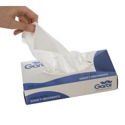 Pañuelos faciales de doble hoja suaves y absorbentes. Pack 40 cajas de 100 uds