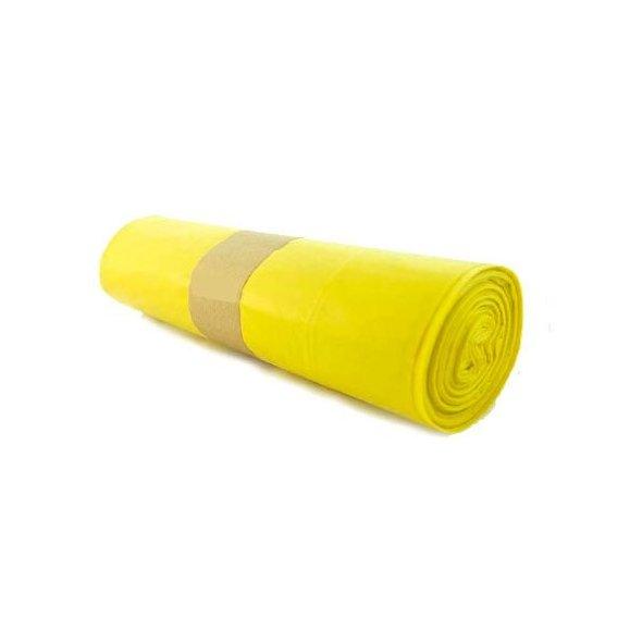 Bolsas de basura comunidad amarillas 85x105 cm. Rollo 10 uds.