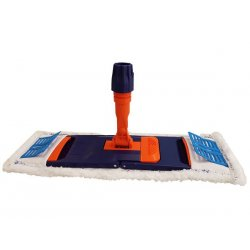Soporte abatible con mopa microfibra 40 cms para seco y húmedo