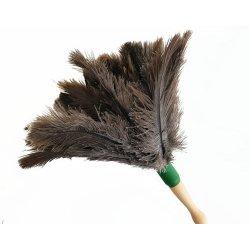 Plumero atrapapolvo mango corto. 100% pluma de avestruz. Pack 5 uds