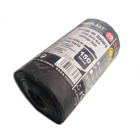 Bolsas de basura comunidad 85x105 cm. 100 Litros. Galga 130. 10 uds.