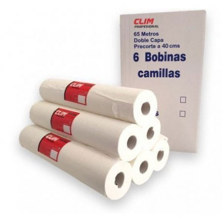 Caja 6 rollos papel camilla extrablanco doble capa 65 mts con precorte