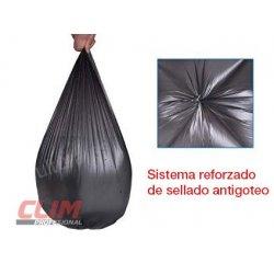Bolsas de basura doméstica 54x60 cm. Antigoteo. Galga 90. 20 uds.