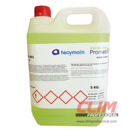 Desatascador biológico enzimático para grasas y materia orgánica. 5 litros