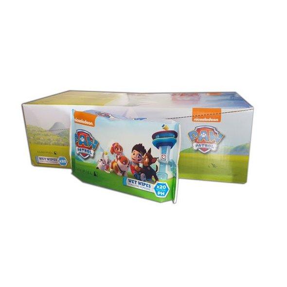 Toallitas húmedas infantiles Patrulla Canina. Caja 10 pack de 20 uds