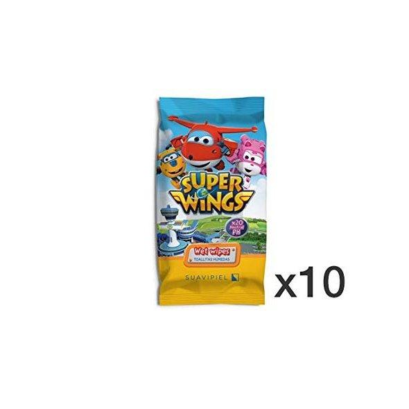 Toallitas húmedas infantiles Super wings Caja 10 packs de 20 uds