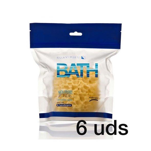 Esponjas de baño Mousse todo tipo de pieles. Caja 6 uds