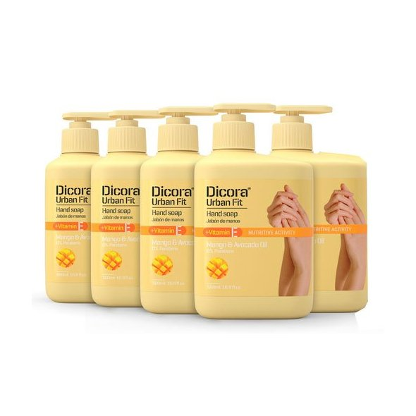Jabón de Manos Vitamina E mango y aguacate 500 ml. Pack 5