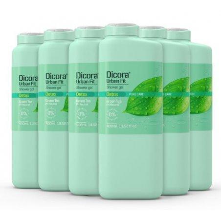 Gel de Baño Detox con té verde 400 ml. Pack 6