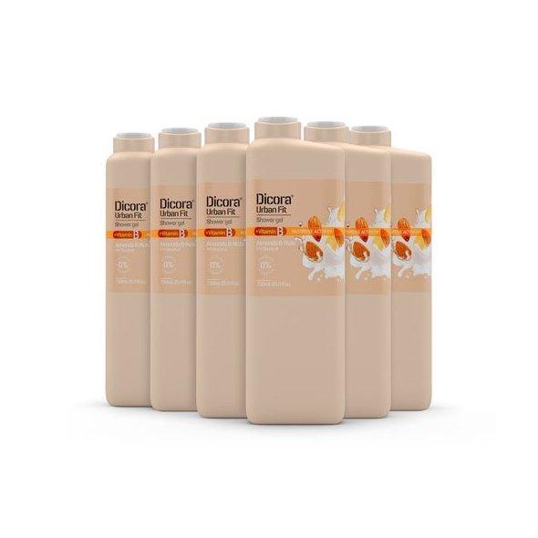 Gel de Baño Vitamina B, almendras y nueces 750 ml. Pack 6 uds