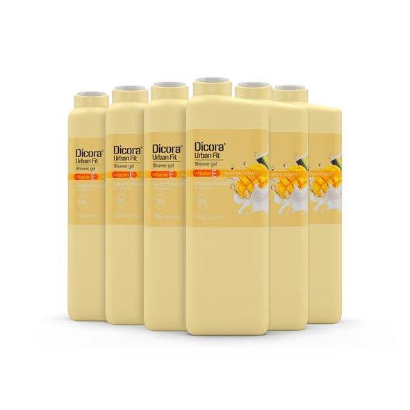 Dicora Urban Fit Gel de Baño Vitamina E Mango & Avocado - 750 ml. Pack 6