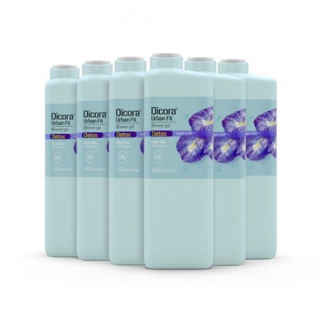 Gel de Baño Detox te azul 750 ml. Pack 6 uds
