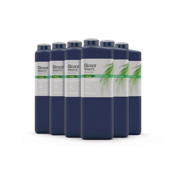 Gel de Baño Energy con Gingseng y Vetiver 750 ml. Pack 6 uds