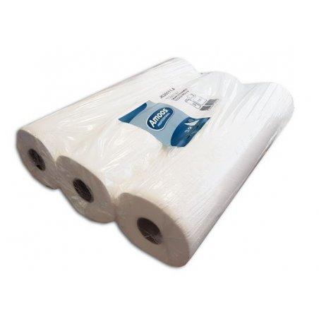Papel camilla extrablanco doble capa 125 servicios 70 mts con precorte. Pakc 3 rollos