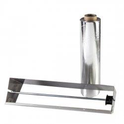 Dispensador de papel de aluminio en acero inoxidable 45cm