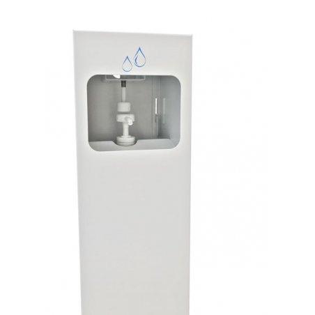 Dispensador de gel hidroalcohólico con pedal para botella 1 litro