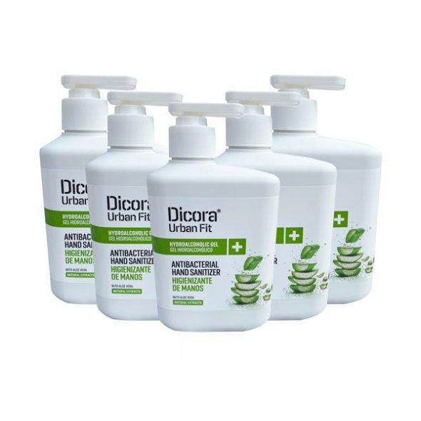 Gel limpiador de manos hidroalcohólico con aloe vera Dicora 500 ml. Caja 12 uds